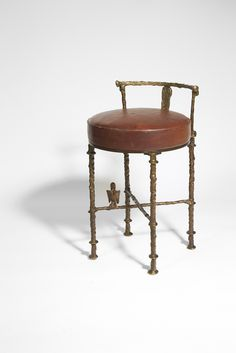 Diego Giacometti, 'Hair dresser stool with Harpy,' ca. 1960, Galerie Marcilhac