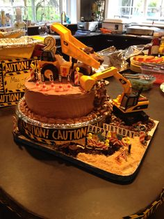 Truck party cake