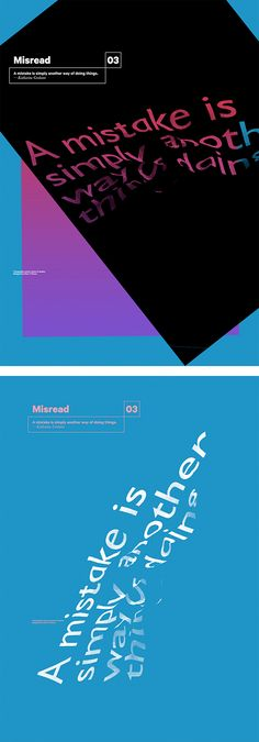 Misread: Typographic Posters by Dimo Trifonov | Inspiration Grid | Design Inspiration