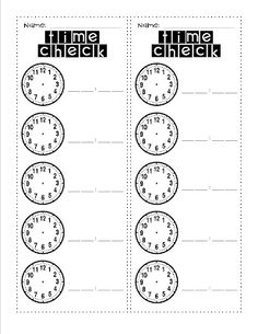 """Time Check - Students keep it on their desks, you call out """"Time Check"""" throughout the day and the students record the time."""