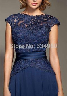 2014 Dark Blue Scoop Neckline Lace Chiffon Cap Sleeves Mother Of The Bride Dresses Floor-Length Mommy Dress Plus Size Mother of Bride Dress Plus Size Wedding Gowns, Wedding Dresses For Sale, Mother Of Groom Dresses, Mothers Dresses, Bridesmaid Dresses, Prom Dresses, Formal Dresses, Bride Dresses, Lounge Dresses