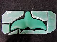 Whale Tail - Faux Jade carving final step