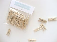 RESERVED - Mini Wooden Clothespins - Pack of 40