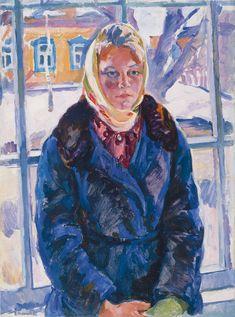 "Socialist realism - ""A Girl from Pereslavl"" by Evgenia Antipova (1964)."