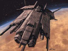Speedpaint: Starship by MK01.deviantart.com on @DeviantArt