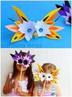 Máscaras con cajas de huevos   #Artividades