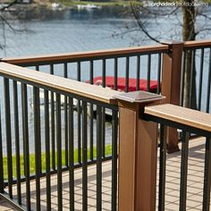 Deck Rail with Drink Ledge | Rails play a significant role in the look of your deck and are a framework for both safety and style.  Select a color, select a material and then express your personality with pickets, post caps, and planters.  Railing is an ideal way to incorporate a ledge or lights too. | click through for the full article from Archadeck