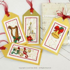 Christmas Tags (Lights and Music Series) - Faby Reilly Designs