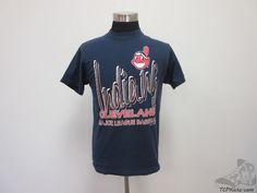 Vtg 90s Logo 7 Cleveland Indians Short Sleeve Crewneck t Shirt sz M Medium MLB #Logo7 #ClevelandIndians #tcpkickz