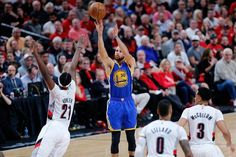 Steph Curry has made at least three 3-pointers in each of his last 14 playoff games. No other player has such a streak longer than 8 games. #GAM30VER