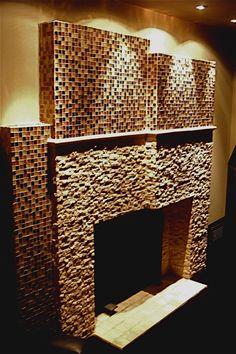 Anthony D'Amico original fireplace; custom built