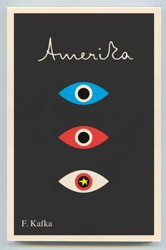 Title: Amerika  Author: Franz Kafka  Designer: Peter Mendelsund