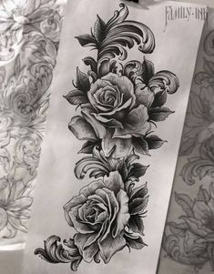 Tattoos are currently observed as an artwork and a type of individual articulation and the floral tattoo is winding up progressively mainstr. Trendy Tattoos, Black Tattoos, Tattoos For Guys, Cool Tattoos, Tatoos, Nature Tattoos, Body Art Tattoos, Sleeve Tattoos, Elfen Tattoo