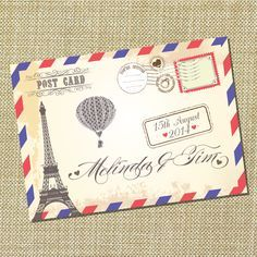 wedding card flight ticket - Google Search