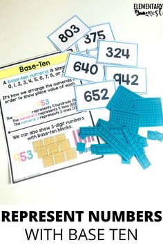 Learn more about teaching your students how to represent numbers using number names, base ten, and expanded form with these activities and strategies. Place Value Activities, Small Group Activities, Math Groups, Number Activities, Teaching Second Grade, Second Grade Math, Grade 2, Teaching Tips, Teaching Math