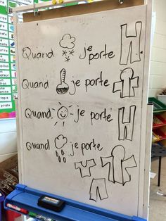 Primary French Immersion Resources: Grade 1 - Building more complex sentences Spanish Teaching Resources, French Resources, Primary Teaching, Teaching Tools, French Articles, Spanish Activities, Work Activities, Teaching Ideas, French Teacher
