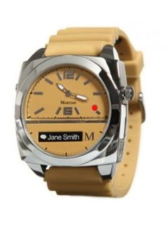 Smartwatch Martian Watches Victory Smart Watch (Tan/Silver/Tan) #Smartwatch  #Martian
