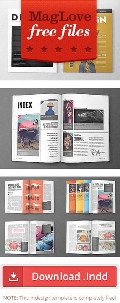 Free Magazine Designs - Indesign Templates. Download here at http://www.magspreads.net/p/magazine-design-and-editorial-layout.html