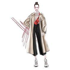 Design by Veronika Ahmatova . Fashion Model Sketch, Fashion Design Sketchbook, Fashion Sketches, Fashion Drawings, Fashion Art, Fashion Models, Style Fashion, Fashion Illustration Dresses, Face Illustration