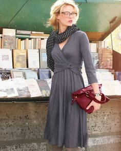 Waist-Detail Wool Jersey Dress
