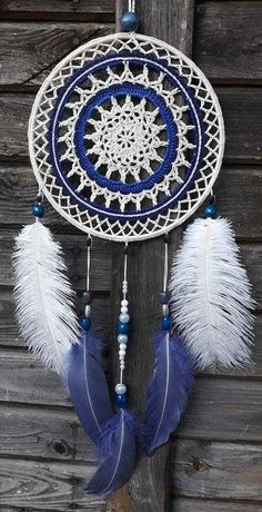 Mandala patron We are want to say thanks if you like to sh Dream Catcher Art, Large Dream Catcher, Crochet Dreamcatcher, Crochet Decoration, String Art, Crochet Doilies, Diy Crafts To Sell, Wind Chimes, Crochet Projects