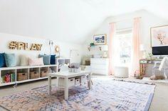 Love this playroom set-up