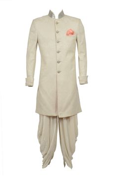 If you are the new age groom of today, chances are you may want to experiment outside of the Sherwani box for your big day or maybe for pre-events like cocktails or Sangeet!  These hot new silhouettes from Brahaans by Narains are super flattering for grooms who want to do something different.  1.