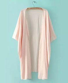 Plain Light Pink Kimono
