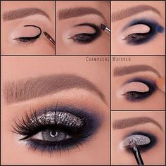 Repost @champagnewhisper Quick pictorial of one of my last posts. I'm loving navy blue as an alternative to black smokes at the moment. Eyeshadows- @opvlashes gorgeous palette Lashes - @eyerisbeauty Cleopatra lashes Liner - @inglotuk @inglot_cosmetics Glitter - @_glittereyes_ silver sparkle (use CHAM10 to save 10%) Brows- @anastasiabeverlyhills taupe #dipbrow and medium brown brow wiz Brushes @makeupaddictioncosmetics #inglot#kosmetika #макияж #donamaquiagem #bilden...