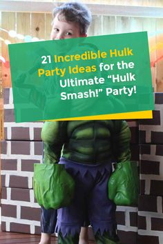 Want to know a smashing party inspired by one of the most favourite Marvel Comics characters? Check out these Incredible Hulk party ideas