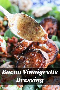 Warm Spinach Salads, Bacon Spinach Salad, Warm Salad, Baby Spinach, Wilted Spinach Salad, Spinach Salad Recipes, Vinaigrette Dressing, Salad Dressing Recipes, Salad Dressings