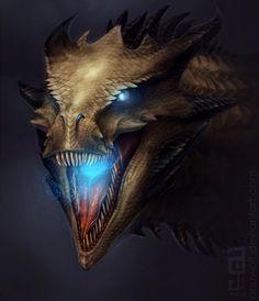 Wraith Dragon by Anuwolf.deviantart.com on @deviantART