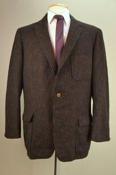 0bed499b 33 Off 42R 1920s Vintage Tweed Blazer Black Brown & by MadMenSuits,  $99.83 Tweed