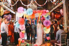 wedding ceremony - photo by Lara Hotz http://ruffledblog.com/australian-polo-club-wedding
