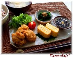 Healthy Cooking, Healthy Recipes, Cafeteria Food, Plate Lunch, Japanese Dishes, Japanese Food, Cafe Food, Bento, Nutritious Meals