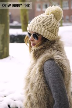 The Kinas for small shop: snow bunny chic