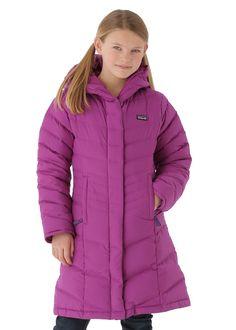 Patagonia Girls Down Coat (Black) | Kids Winter Gear | Pinterest ...