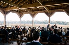 CHARLESTON WEDDINGS - Cotton Dock Ceremony at Boone Hall Plantation Winter Wedding.  Photographer: Jennings King Photography  /  Planning & Design: Fox Events