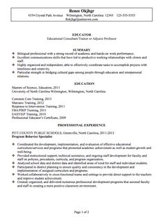 Resume Format For A Teacher Magnificent 39 Best Jobs Images On Pinterest  Sample Resume Career And Job Search