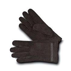 Pineider Men's Leather Gloves - Ebony Carpinchos with Cashmere