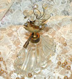 Vintage Clear Crystal Bead & Filigree by RosePetalResources
