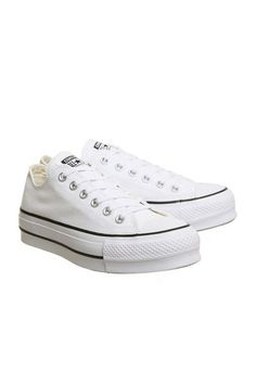 Womens   Converse All Star Low Platform Trainers - White 8c8cc7079