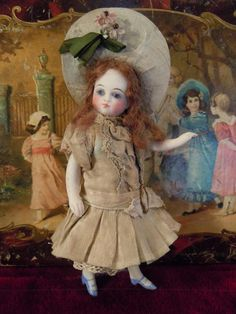 French All-Bisque Mignonette with Painted Blue shoes and stockings