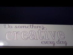 Writing on Contact Paper with Cricut Explore - YouTube