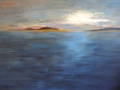 Abstract Sunset Art, Abstract Sunset Painting, Alaskan Sunset Painting;