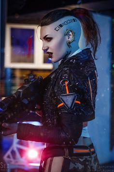 Jack from Mass Effect by Svyatoy Alumin Cyberpunk Rpg, Cyberpunk Girl, Cyberpunk Aesthetic, Mass Effect Jack, Shadow Runner, Character Art, Character Concept, Femmes Les Plus Sexy, Sci Fi Characters
