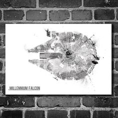 Star Wars art Millennium Falcon star wars art movie posters  May the Fourth be with you!