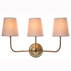 Lancaster 3 Light Armed Sconce | Wayfair