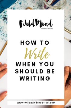 5 Ways to Focus and Write when you Should be Writing. Writing Genres, Writing Advice, Writing Resources, Start Writing, Writing A Book, Writing Prompts, Fiction Writing, Writing Ideas, Writer Tips