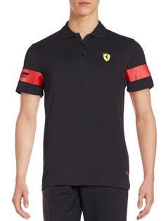 Scuderia Ferrari Polo Shirt, Black